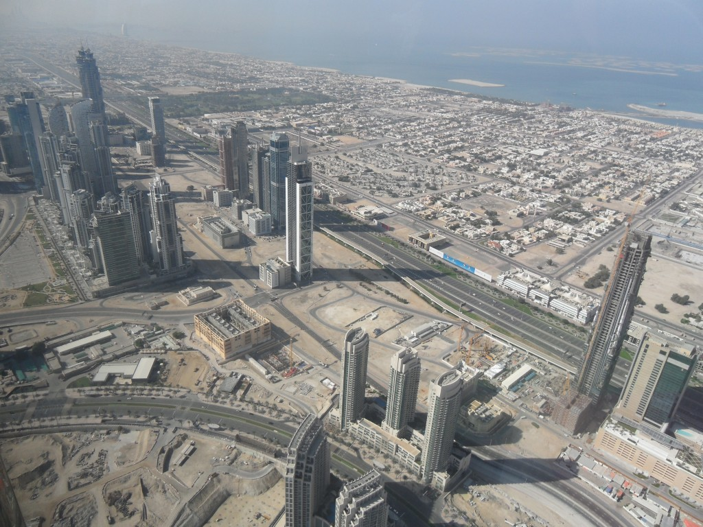 A view of downtown from the top of Burj Khalifa